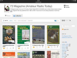 riviste radioamatoriali -73